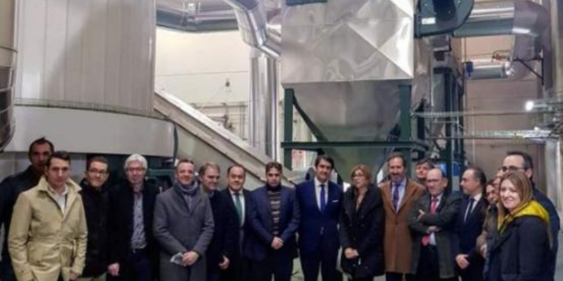 Inauguración del district heating de Aranda de Duero