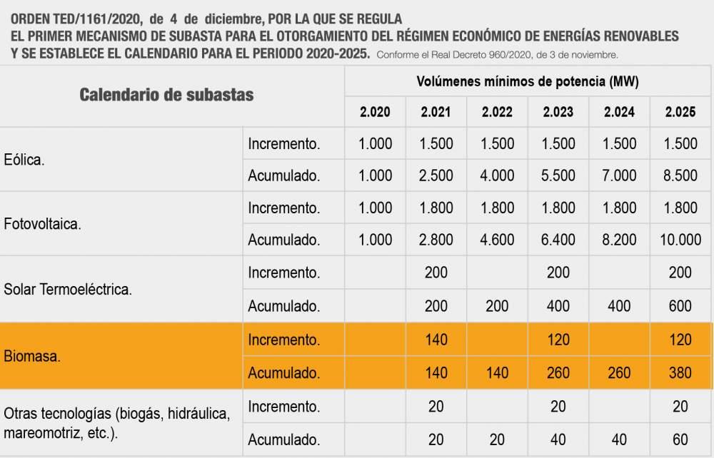 Calendario subastas energias renovables 2025